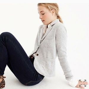 NWT Jcrew cropped sweater blazer